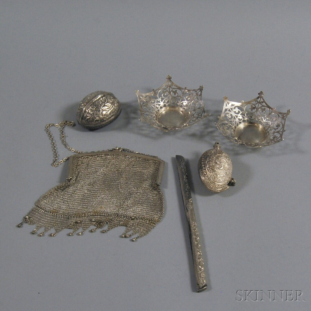 Group of Assorted Small Silver and Silver-tone Objects