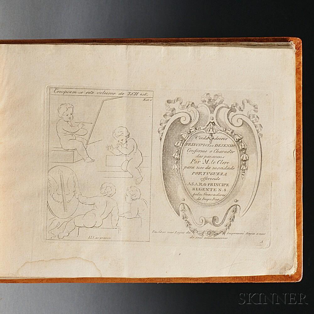 Leclerc, Sebastien (1637-1714) Verdadeiros Principios do Desenho Conforme a Character das Paixoens Por M. le Clerc para uso da mocidade