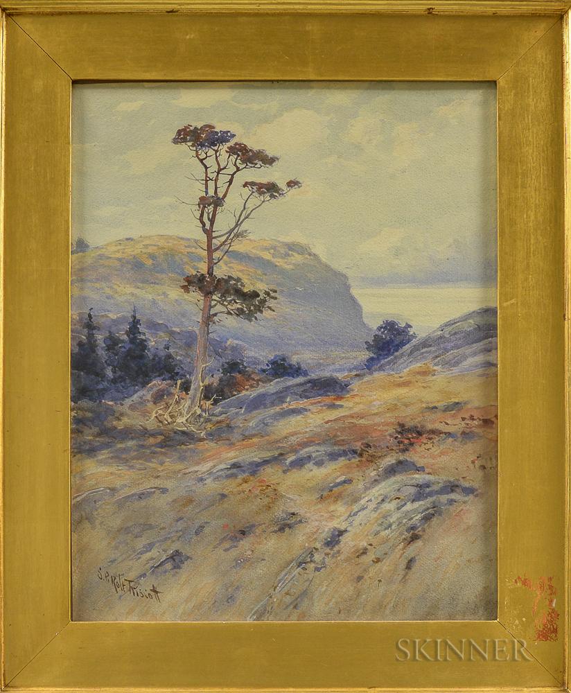 Samuel Peter Rolt Triscott (American, 1846-1925)      Monhegan-Burnt Head in Foreground, White Head Beyond