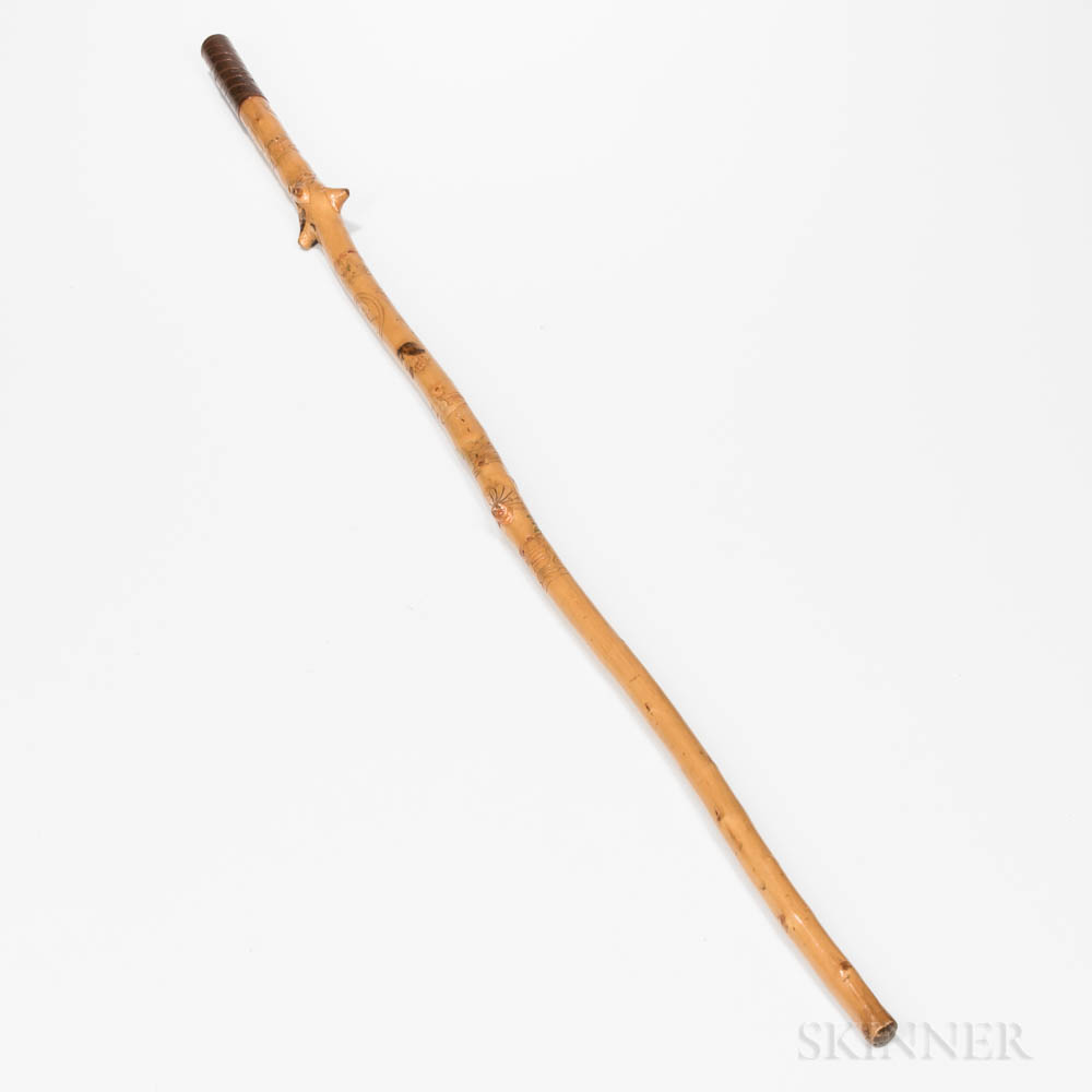 Carved and Decorated Cane