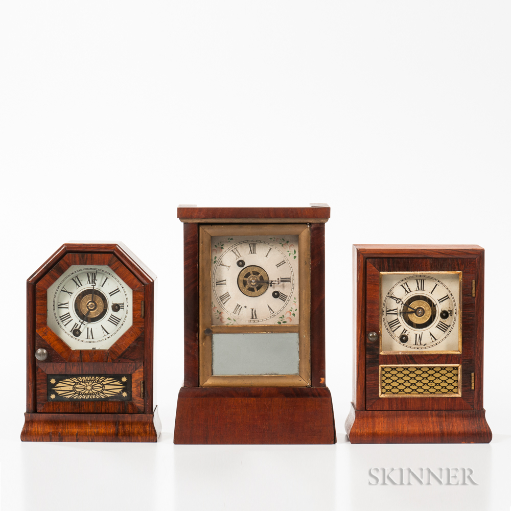 Three Connecticut Miniature Cottage Clocks