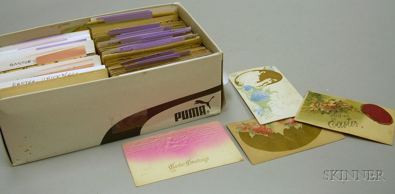 Collection of Assorted Early 20th Century Easter-related Postcards