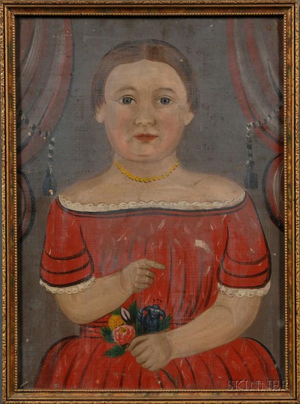 William Matthew Prior (American, 1806-1873)      Portrait of Ardelle Clementine Taylor.