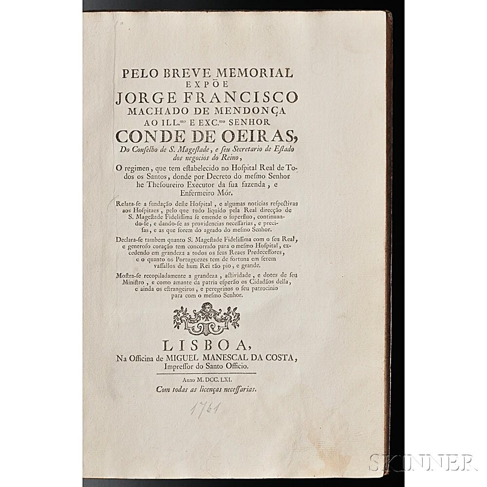 Machado de Mendonca, Jorge Francisco (1726-1767) Pelo Breve Memorial.