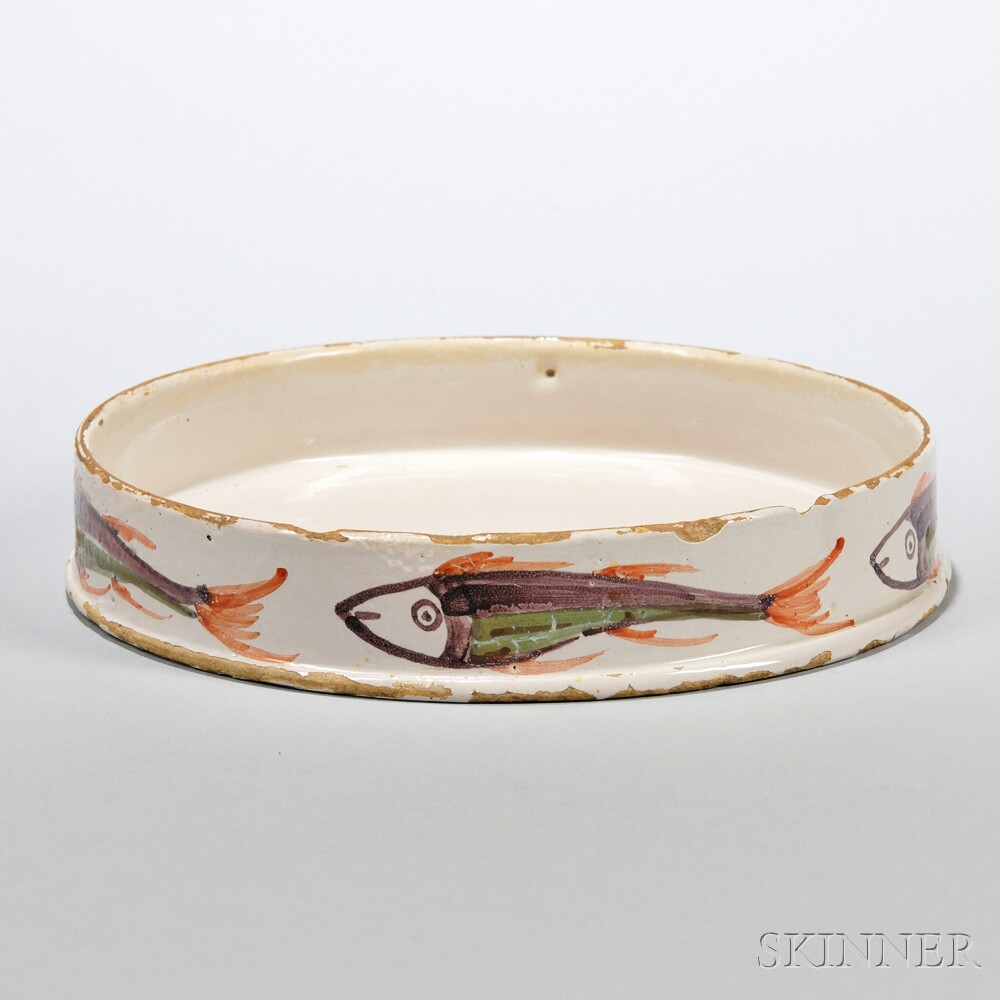 Tin-glazed Earthenware Char Potting Dish