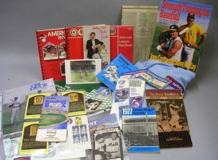 Group of Assorted Baseball and Sports Related Collectibles