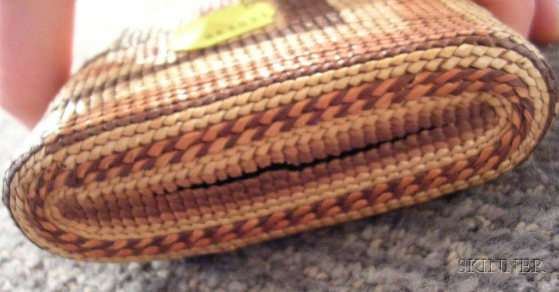 Northwest Coast Polychrome Twined Basketry Wallet
