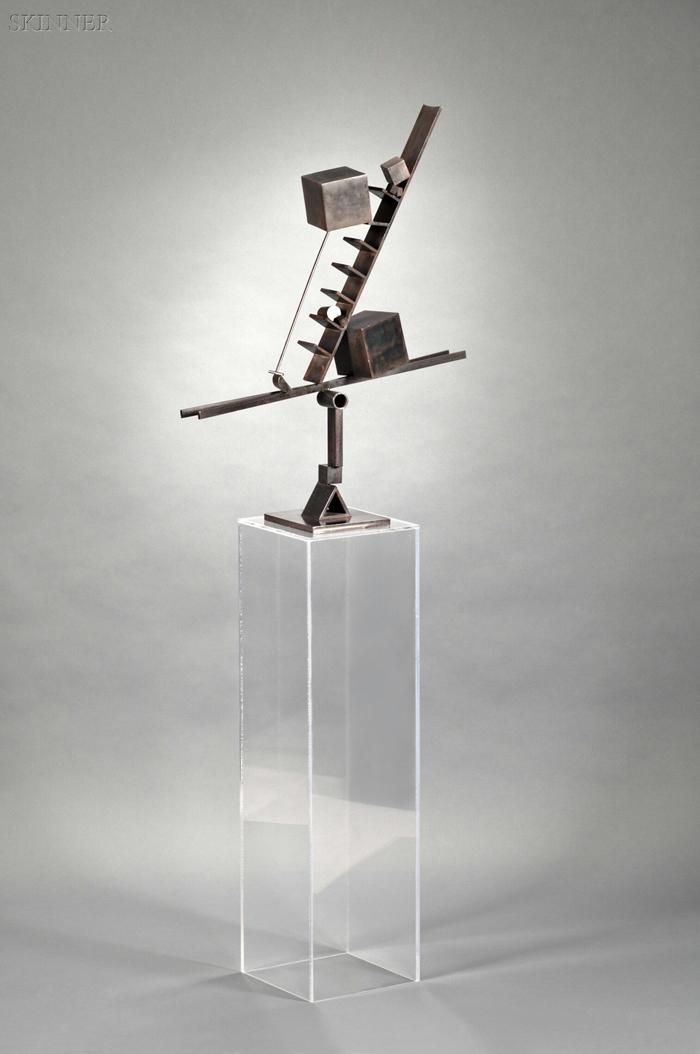 Fletcher Benton  (American, b. 1931)      Balanced-Unbalanced Steel Watercolor #15