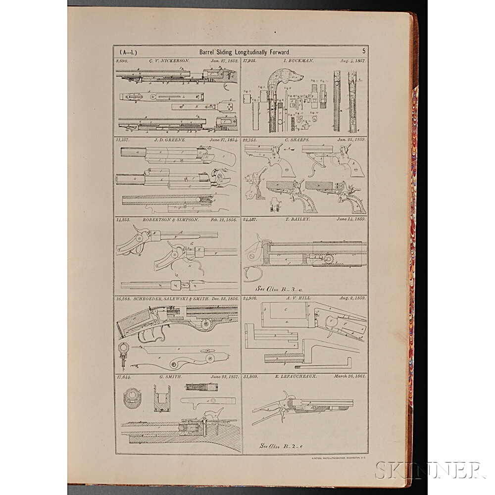 Stockbridge, Virgil D. (1837-1916) Digest of Patents Relating to Breech-loading and Magazine Small Arms (Except Revolvers) Granted in t