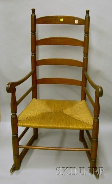 Ladder-back Armrocker.