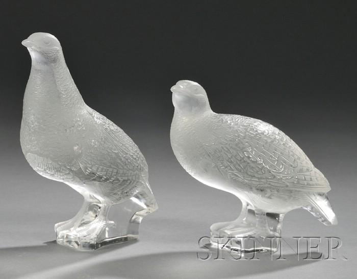 Two Lalique Birds