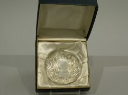 Baccarat Dwight D. Eisenhower Glass Paperweight.