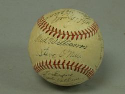 Circa 1952 Boston Red Sox Autographed Baseball