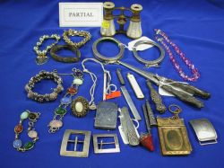 Group of Silver and Metal Frames and Accessories