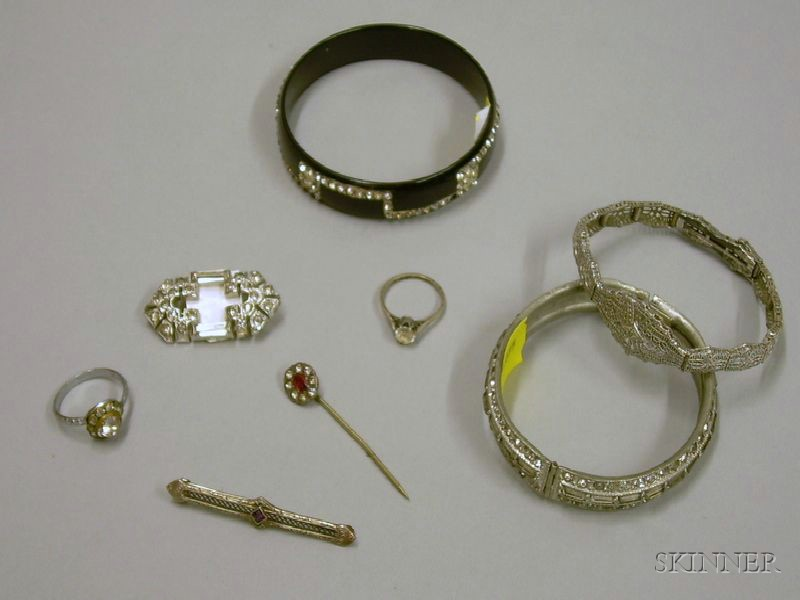 Group of Paste Inset Estate Jewelry