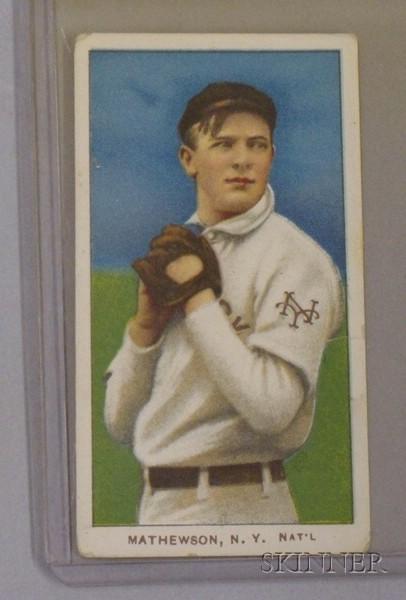 1909-1911 T206 Sweet Caporal Cigarettes No. 231, Christy Mathewson Baseball Card.