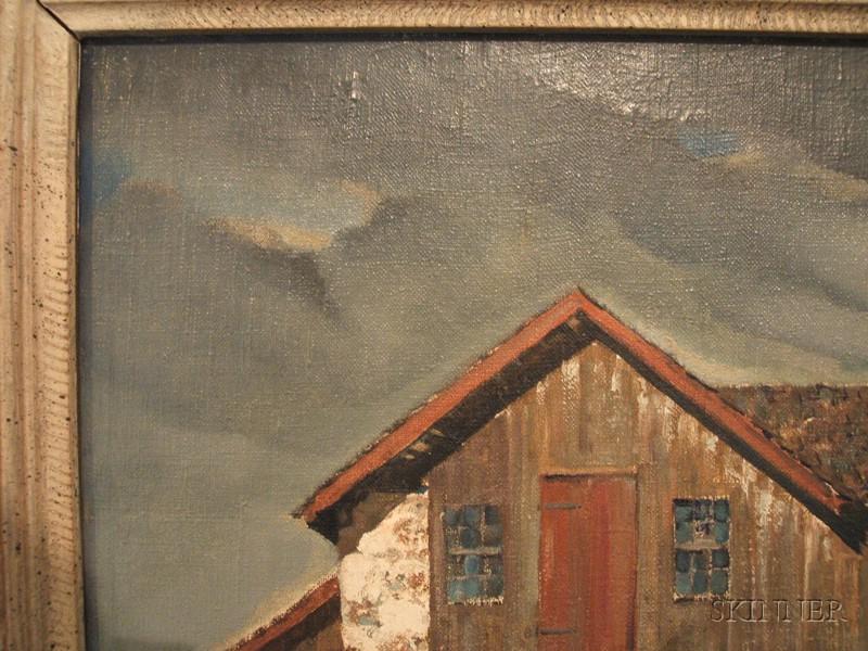 Arthur Meltzer (American, 1893-1989) Barn and Buggy   Sale ...