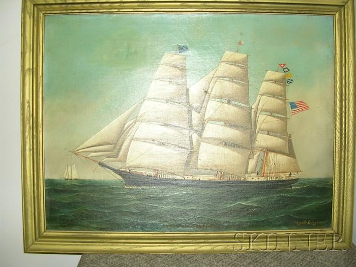 American School, 19th Century      Portrait of a