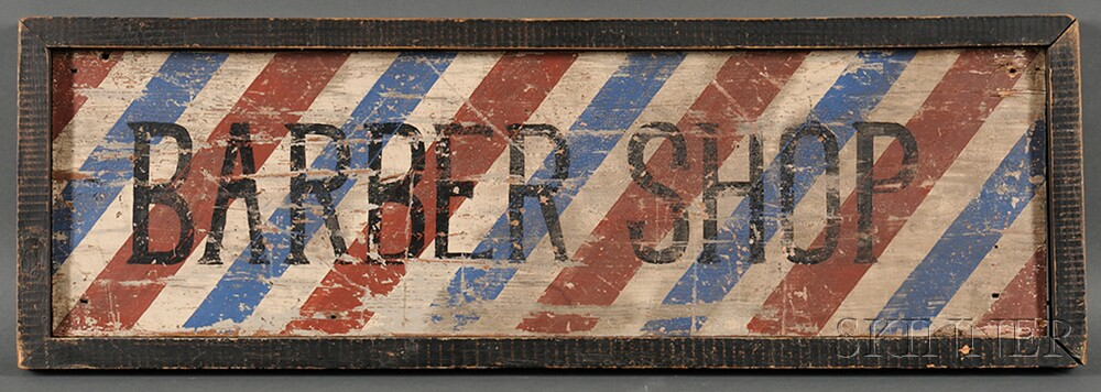 "Painted ""BARBER SHOP"" Trade Sign"