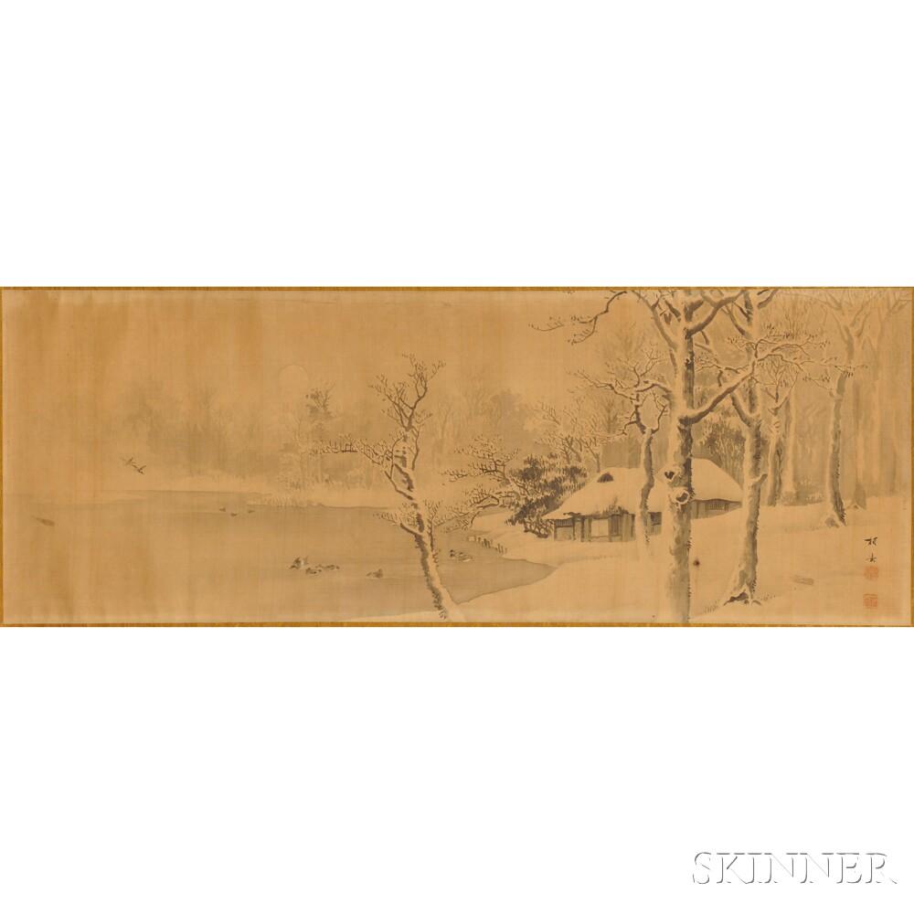 Handscroll Depicting a Snowy Landscape