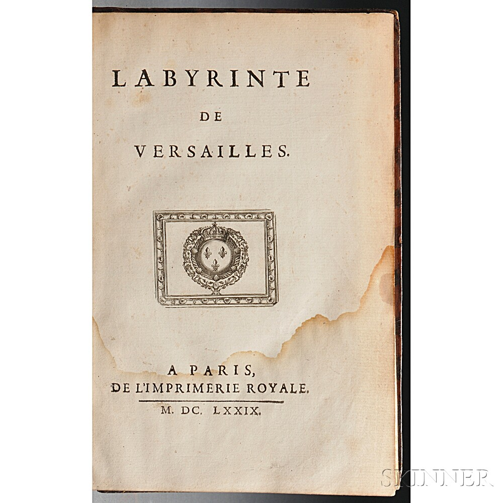 Perrault, Charles (1628-1703) Labyrinte de Versailles.
