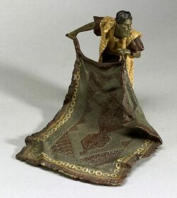 Bergman Viennese Cold Painted Bronze Arabian Figure of a Rug Seller