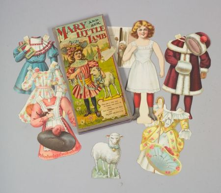 """Boxed """"Mary and Her Little Lamb"""" Paper Doll"""