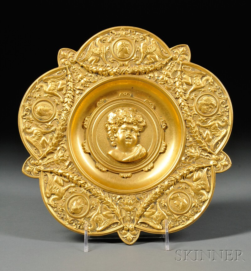 Neoclassical Gilt-bronze Charger