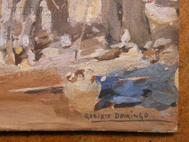 Roberto Domingo y Fallola (Spanish, 1883-1956)      Horseshoeing