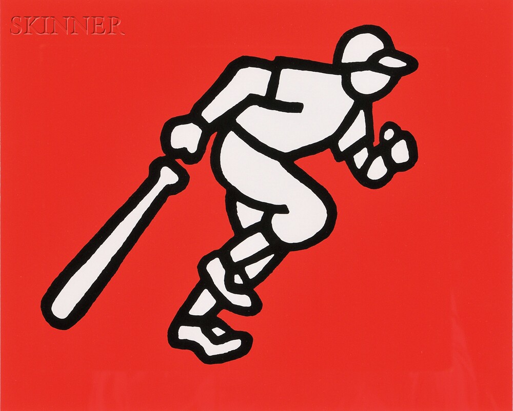 Mike Schacht (American, 1936-2001)      Three Impressions: Running Batter