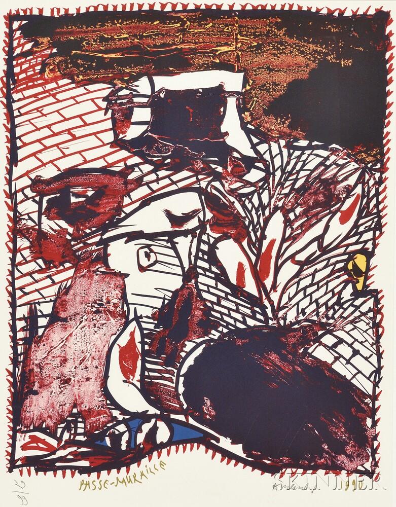 Pierre Alechinsky (Belgian, b. 1927)      Passe-Muraille