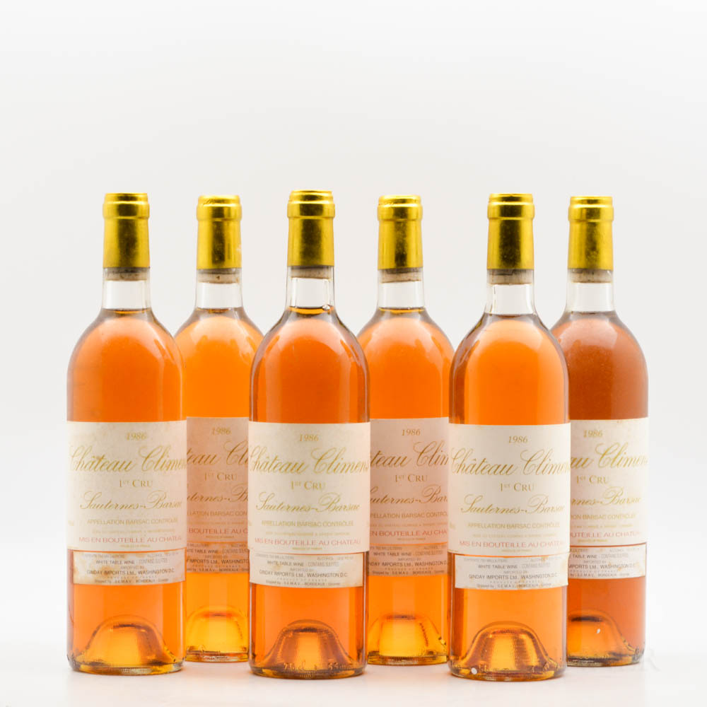 Chateau Climens 1986, 6 bottles
