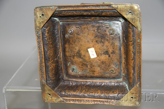 Gilt Renaissance-style Table Clock