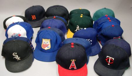 Thirty-two 1980s Mostly American League Team Hats
