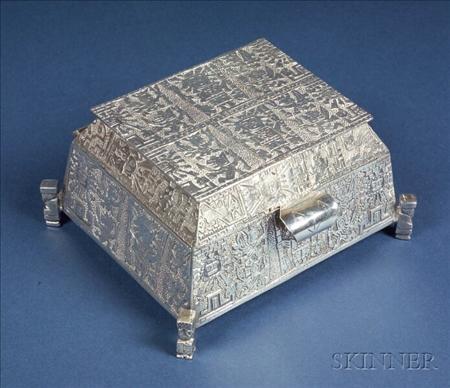 Peruvian .900 Silver Jewel Box