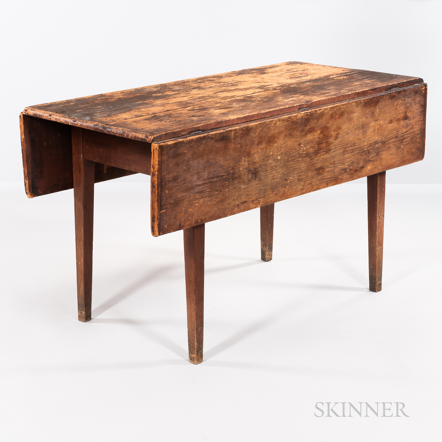 Pine and Cherry Drop-leaf Table