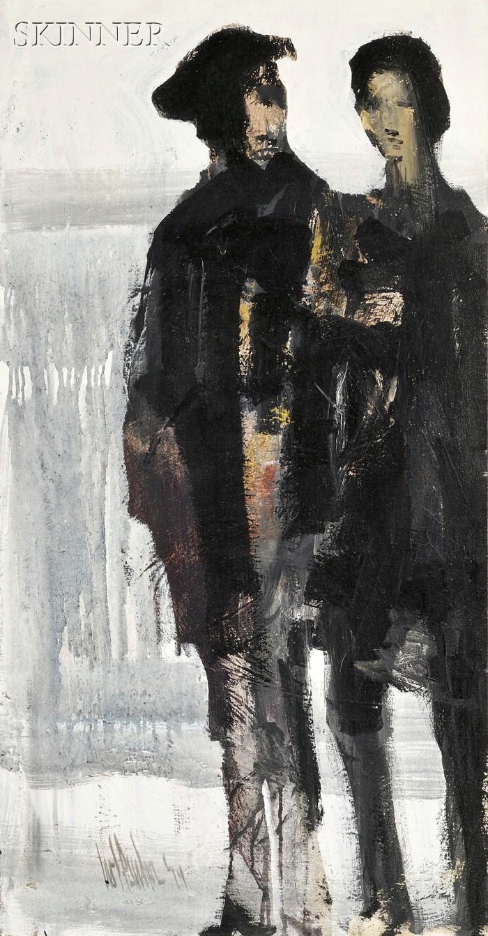 Gino F. Hollander (American, b. 1924)      Two Figures