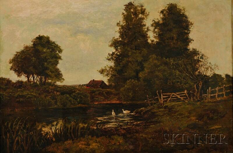 British School, 19th Century      Rural Landscape with Geese