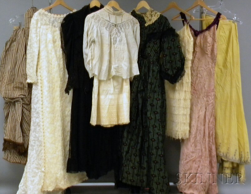 Box of Antique and Vintage Clothing