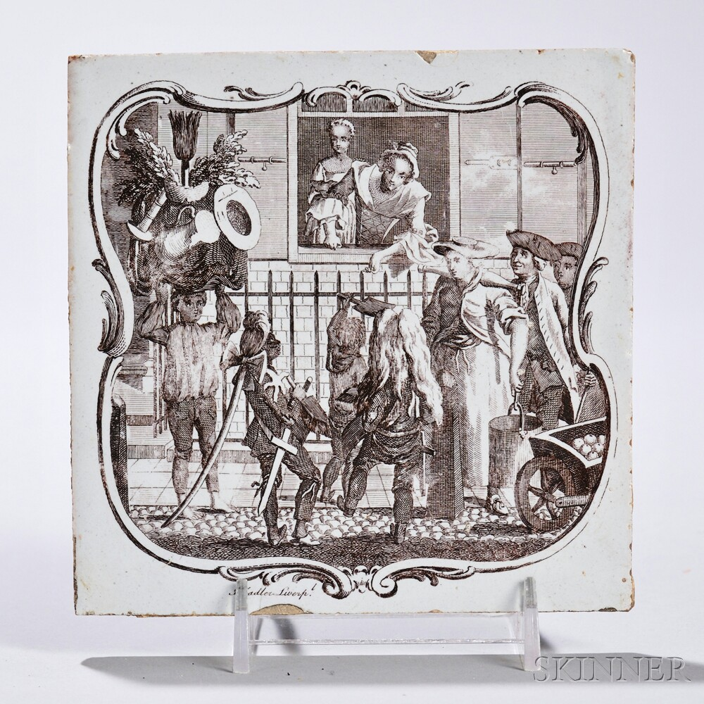 Tin-glazed Earthenware May Day   Tile