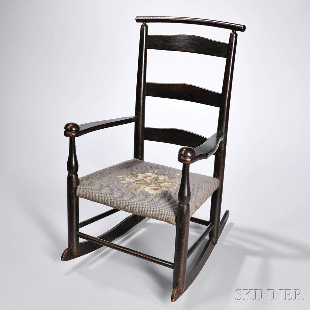 """Shaker Production """"0"""" Rocking Chair With Cushion Rail"""