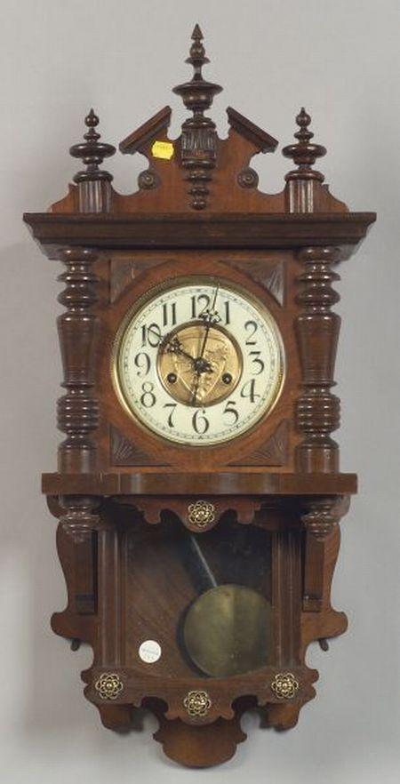 German Walnut Regulator Wall Clock