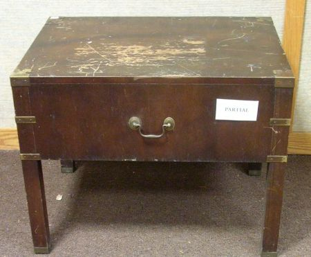Pair of British Colonial-style Two-Drawer End Tables.