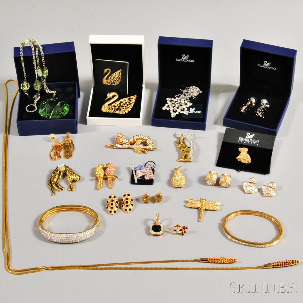 Group of Mostly Swarovski Costume Jewelry