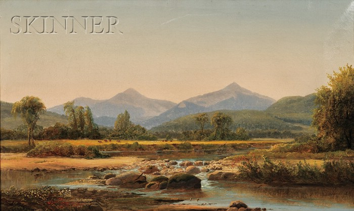 Harrison Bird Brown  (American, 1831-1915)      View with Cows in a Valley, Possibly New Hampshire