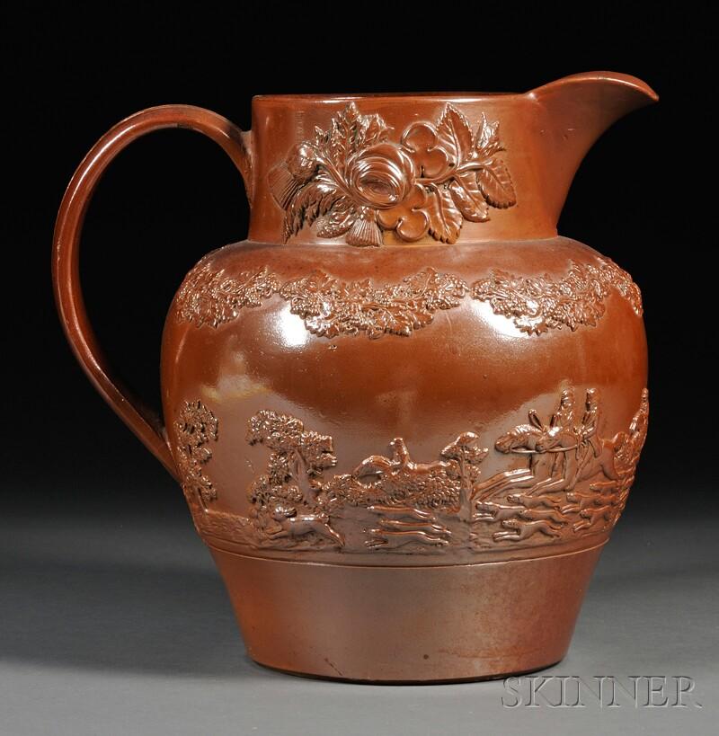 Fulham Brown Glaze Stoneware Pitcher