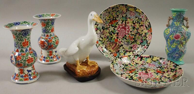 Six Assorted Asian Porcelain Items