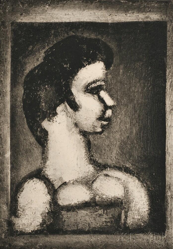 Georges Rouault (French, 1871-1958)      Courtisane en profil à droite