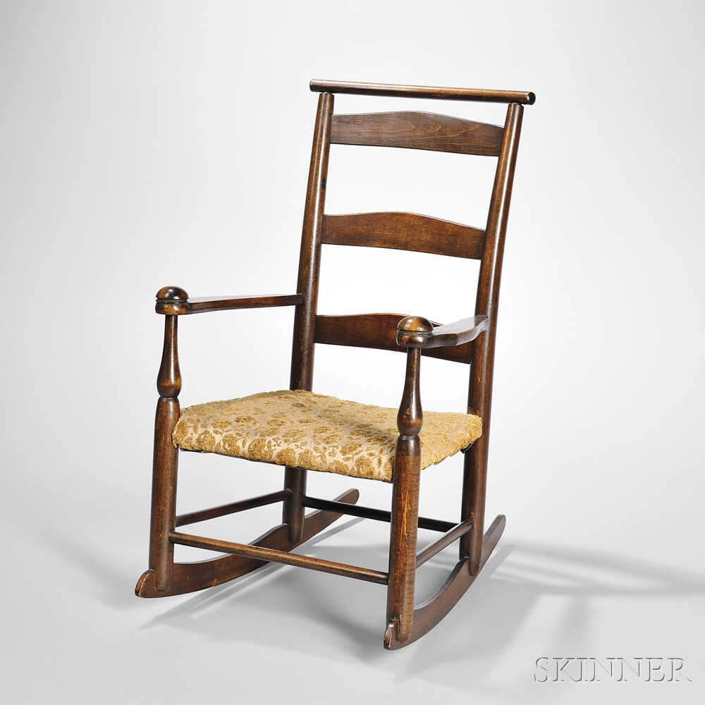 "Shaker Production ""0"" Rocking Chair With Cushion Rail"