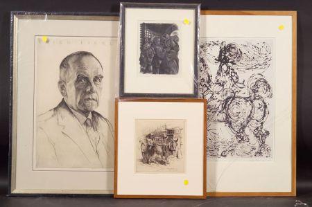Lot of Four Prints: